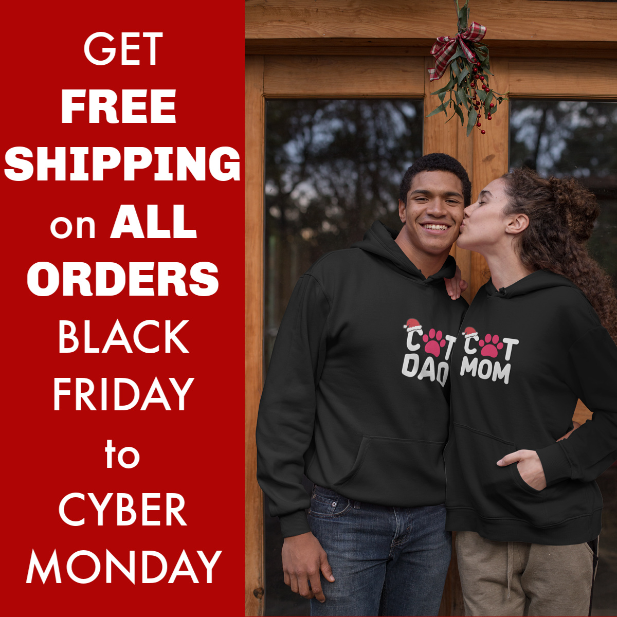 BLACK FRIDAY & CYBER MONDAY DEAL: Get FREE Shipping on ALL Orders at Cat Dog Gifts!