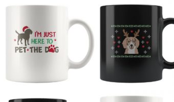 The only thing better than hot coffee on a cold winter's morning is drinking it out one of these fun Christmas mugs for dog lovers! Check them out!