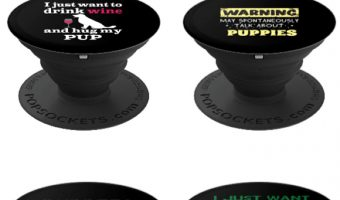 Your phone just called and wants me to let you know that it's just begging for these adorable puppy PopSockets! Seriously! Check them out!