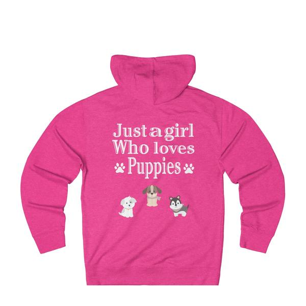 Just A Girl Who Loves puppies Hoodie