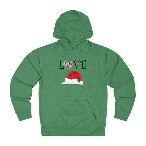 Love With A Heart-Filled Paw A Christmas Hat hoodie: I Love My Dog Sweatshirt