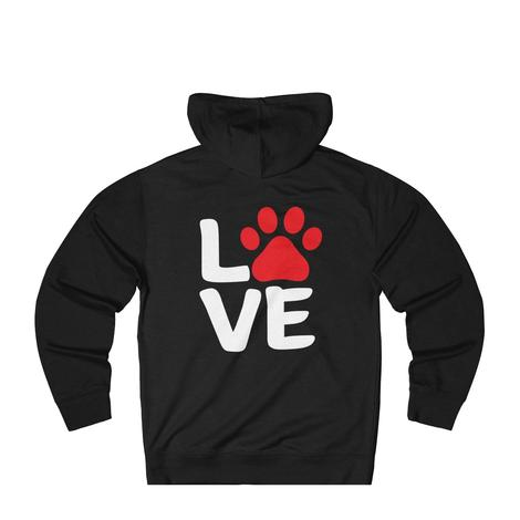 Love With Paw Print Sweatshirt for dog lovers