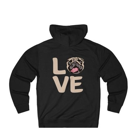 I Love My Dog Sweatshirt: Love With Pug Face