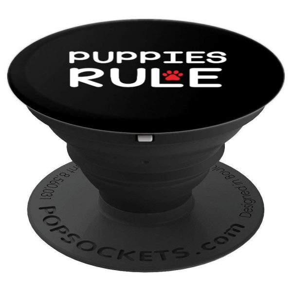 Puppies Rule With Red Paw Print