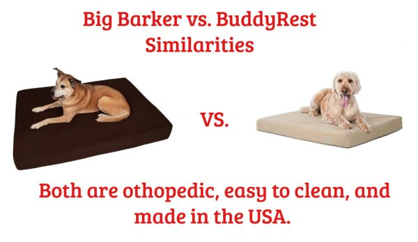 Big Barker vs BuddyRest Dog Bed Similarities