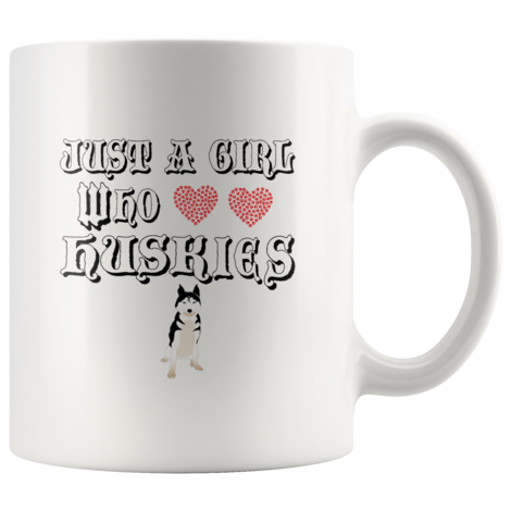 Just A Girl Who Loves Huskies Mug