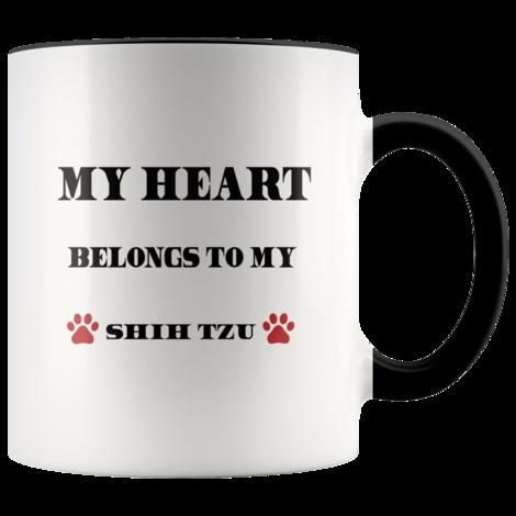 My Heart Belongs To My Shih-Tzu Accent mug