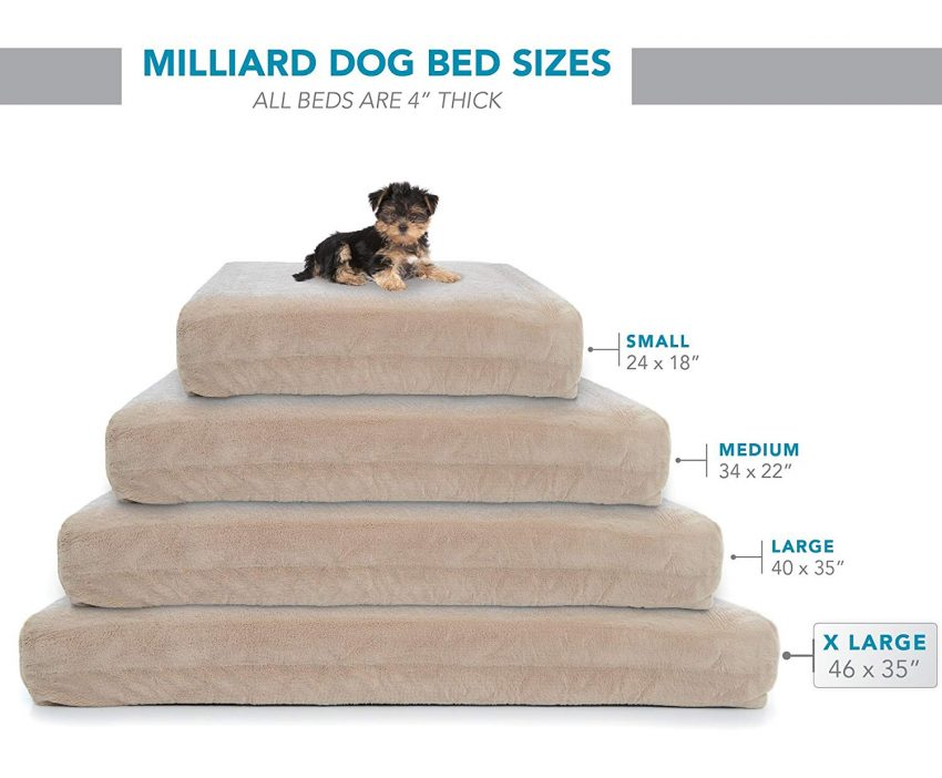 Milliard Premium Orthopedic Memory Foam Dog Bed sizes