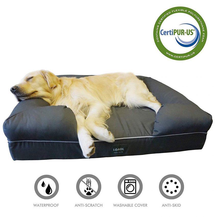 Loaol waterproof pet bed dog sofa