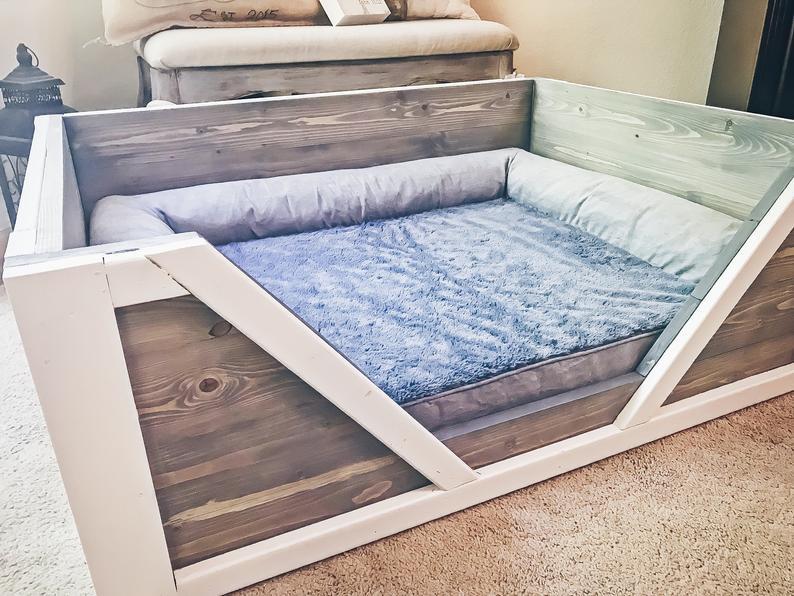 Indoor Wooden Dog Bed