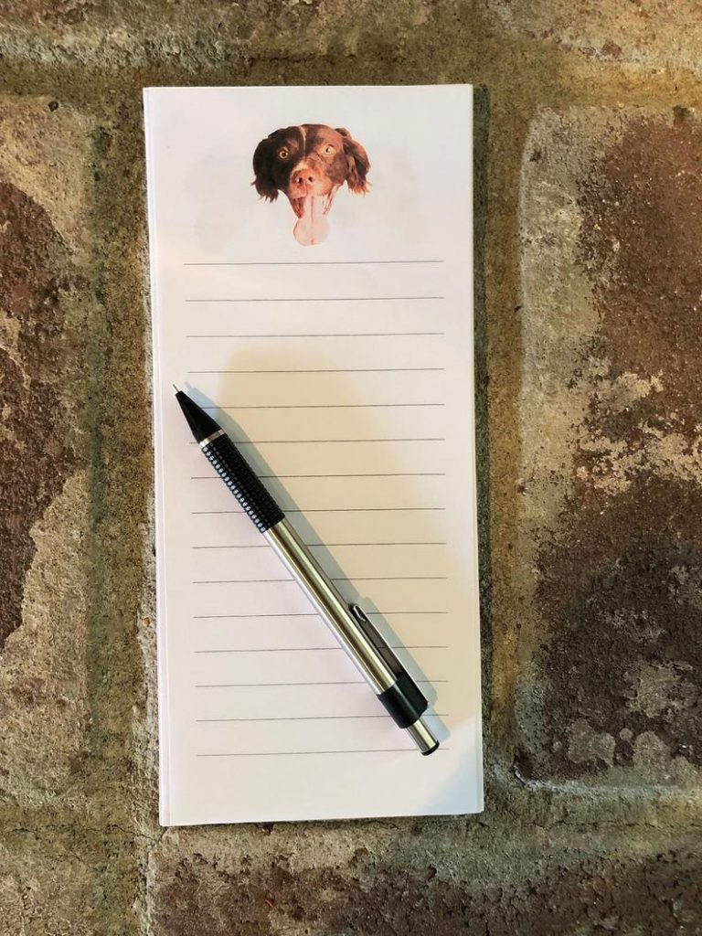 Custom Notepad with Their Dog's Photo